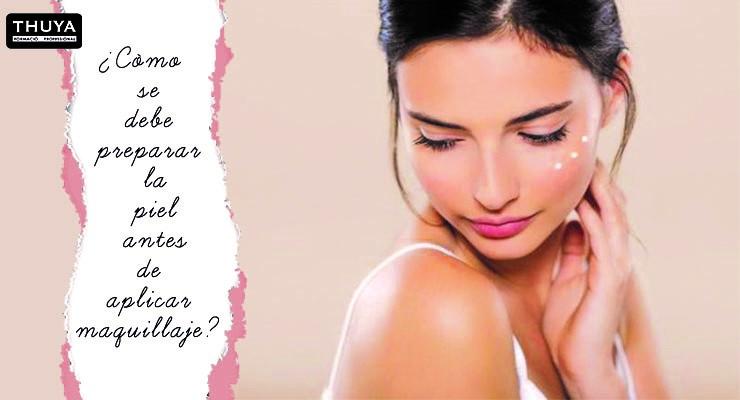 Preparar la piel antes de aplicar maquillaje
