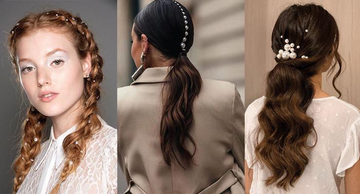 Perlas en el pelo